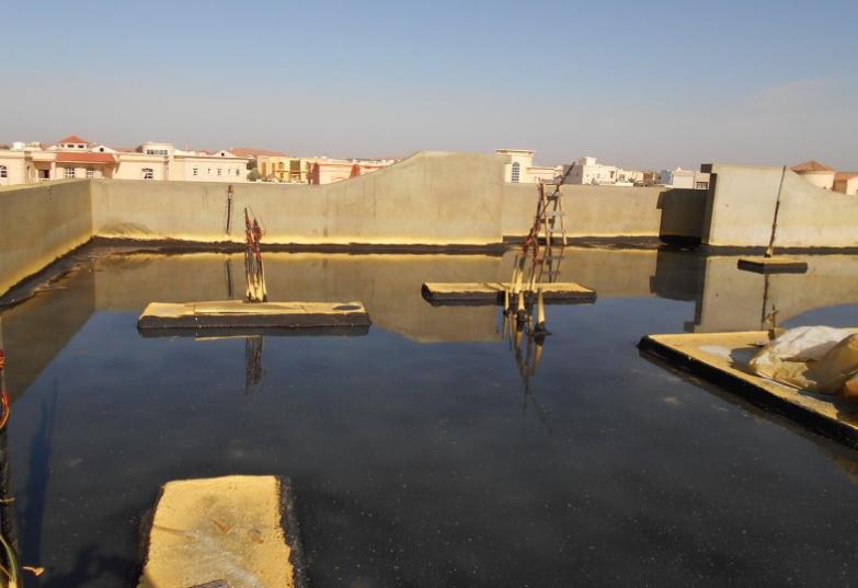 Combo Roof waterproofing Abu Dhabi water test